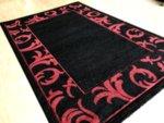 релефен килим съни  4225 черно и червено